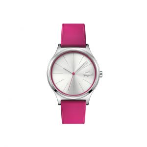 Nikita Watch - Pink Silicone Strap And Silver-White Dial