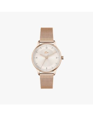 Lacoste Club 3 Hands Rose Goldtone Watch