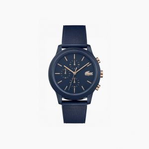 Men's Lacoste.12.12 Watch with Navy Silicone Petit Pique Strap