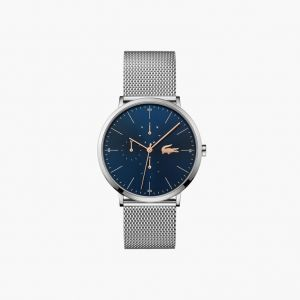 Lacoste Men's Moon Multifunction Watch with Stainless Steel Mesh Band Strap
