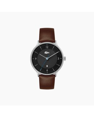 Lacoste Club 3 Hands Watch With Brown Leather Strap