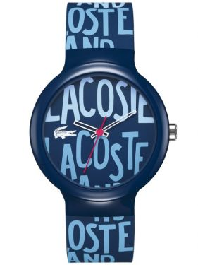 Goa Blue Dial Blue Silicone Rubber Unisex Watch
