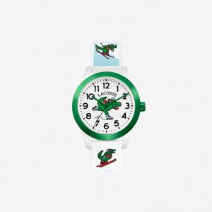 Kids Lacoste 12.12 Watch with White Silicone Petit Pique Strap