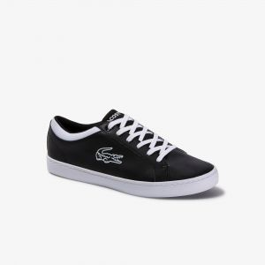 Kids Lacoste Straightset Lace Up Sneaker