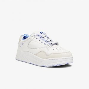 Women's Court Slam Leather Marbled Trainers