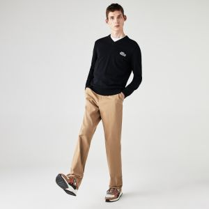 Men's Lacoste x National Geographic V-neck Cotton Sweater