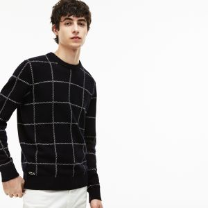 Lacoste Men's Checked Wool Pullover