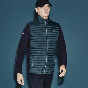 Men's Lacoste Sport Golf Zippered Bimaterial Jacket