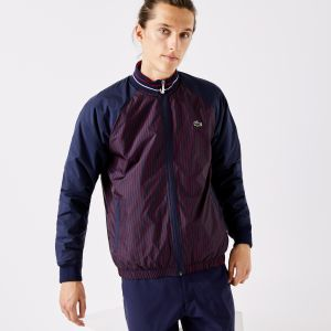 Men's Lacoste SPORT Water-Resistant Striped Zip Golf Jacket