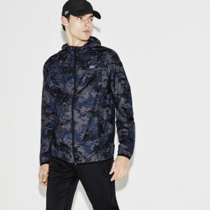 Men's Lacoste Sport Tennis Hooded Graphic Print Jacket