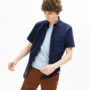 Men's Regular Fit Mini Pique Shirt