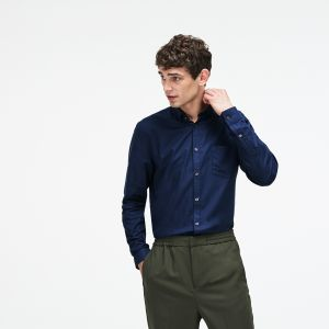 Men's Regular Fit Cotton Mini Pique Shirt