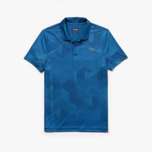 Men's Lacoste Sport Print Technical Stretch Jersey Golf Polo Shirt