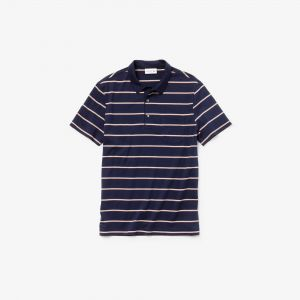 Men's Lacoste Regular Fit Lightweight Striped Cotton Polo Shirt