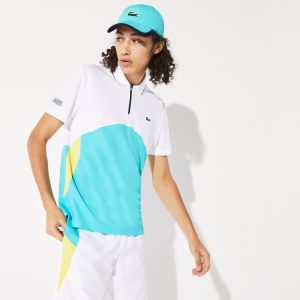 Men's Lacoste Sport Ultra-Dry Pique Zip Tennis Polo Shirt