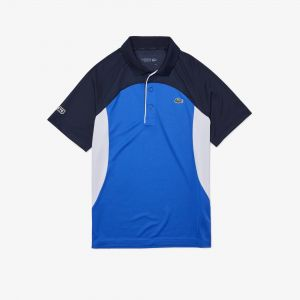 Men's Lacoste Sport Colourblock Breathable Pique Tennis Polo Shirt