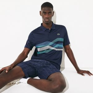 Men's Lacoste Sport Graphic Breathable Golf Polo Shirt