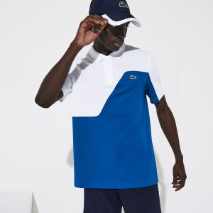 Men's Lacoste Sport Two-Tone Breathable Pique Golf Polo Shirt