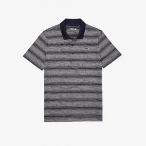 Men's Lacoste Sport Striped Breathable Golf Polo Shirt