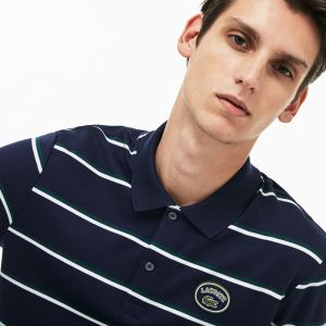 Men's Lacoste Regular Fit Striped Cotton Interlock Polo