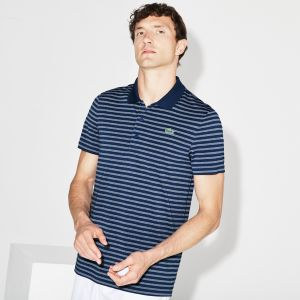 Men's Lacoste Sport Striped Technical Jersey Golf Polo
