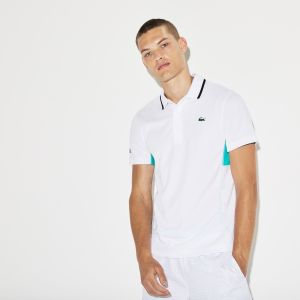 Men's Lacoste Sport Net Print Pique Tennis Polo