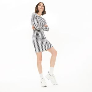 Women's Nautical Ribbed Cotton Dress