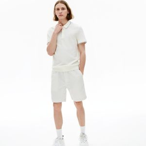 Men's Fine Striped Cotton And Linen Blend Bermudas