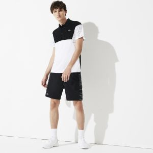 Men's Lacoste Sport Print Side Bands Tennis Shorts