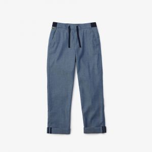 Boys' Two-Tone Cotton Drawstring Pants
