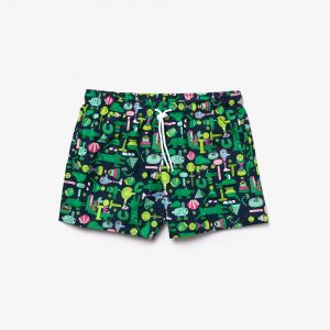 Unisex Lacoste x Jeremyville Light Print Swim Shorts