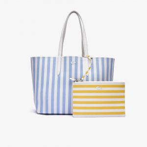 Women's Anna Reversible Striped Coated Canvas Tote Bag