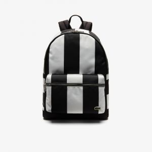 Men's Lacoste Live Detachable Pouch Striped Backpack