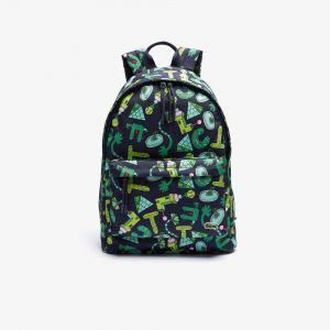 Men's Crocseries Printed Canvas Zippered Backpack