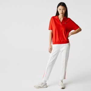 Women's Lacoste Loose fit Flowy Pique Polo Shirt