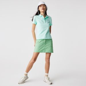 Women's Lacoste Slim fit Stretch Cotton Pique Polo Shirt