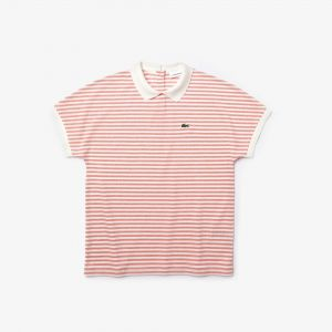 Women's Striped Lacoste Polo Shirt