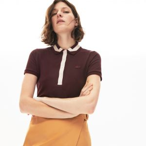 Women's Lacoste Contrast Stretch Cotton Polo Shirt