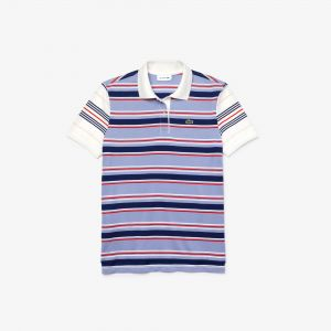 Women's Lacoste Classic Fit Striped Cotton Polo Shirt