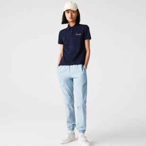 Women's Lacoste Regular Fit Embroidered Cotton Pique Polo