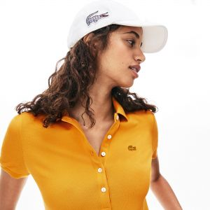 Women's Lacoste Slim Fit Stretch Mini Cotton Pique Polo Shirt