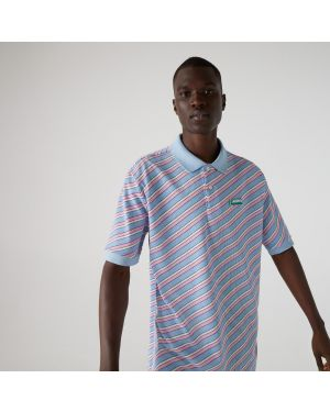 Men's Lacoste LIVE Striped Cotton Pique Polo Shirt