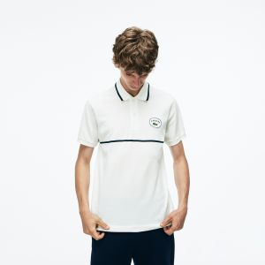 Men's Lacoste Classic Fit Striped Accents Petit Pique Polo