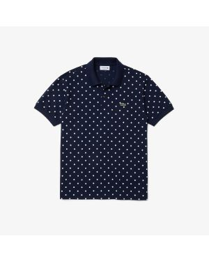 Men's Lacoste Classic Fit Polka Dot Cotton Piqué Polo Shirt