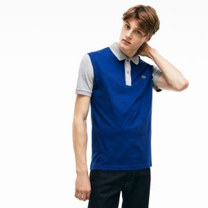 Men's Lacoste Slim Fit Colorblock Stretch Pima Pique Polo