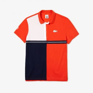 Men's Lacoste Sport French Open Colourblock Petit Pique Polo Shirt