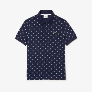 Men's Lacoste Live Ultra Slim Fit Mini Paisley Mini Pique Polo Shirt