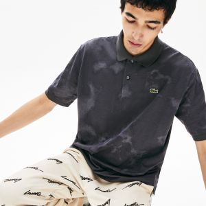 Men's Lacoste Live Tie-Dye Cotton Pique Loose Fit Polo Shirt