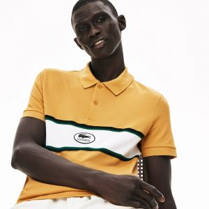 Men's Lacoste Panel And Badge Cotton Polo Shirt