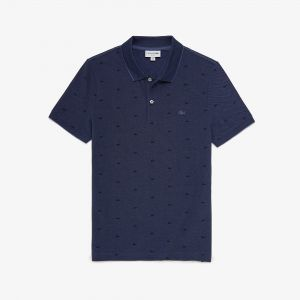 Men's Lacoste Micro Print Polo Shirt